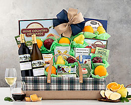 Suggestion - Edenbrook Vineyards Wine and Fruit Gift Basket