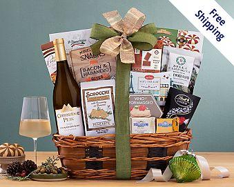 Crossridge Peak Chardonnay Bon Appetit Wine Basket Gift Basket  Free Shipping