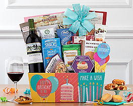 Suggestion - Cliffside Cabernet Birthday Collection Wine Basket