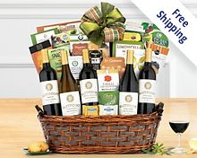 Crossridge Peak California Collection Wine Basket Gift Basket  Free Shipping