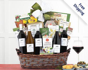 Crossridge Peak California Collection Wine Basket Gift Basket  Free Shipping