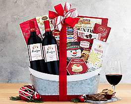 Suggestion - Vintners Path Red Wine Holiday Gift Basket