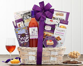 Windwhistle Sweet Moscato Assortment Wine Basket Gift Basket
