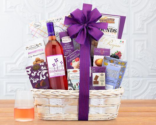 Windwhistle Sweet Moscato Wine BasketWindwhistle Sweet Moscato Wine Basket ... & Windwhistle Sweet Moscato Wine Basket Gift Basket at Wine Country ...