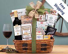 Barrel Hoops Cabernet Bon Appetit Wine Basket Gift Basket Free Shipping
