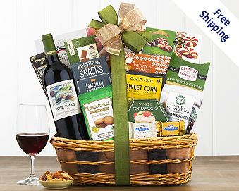 Item 736 - Barrel Hoops Cabernet Bon Appetit Wine Basket FREE SHIPPING