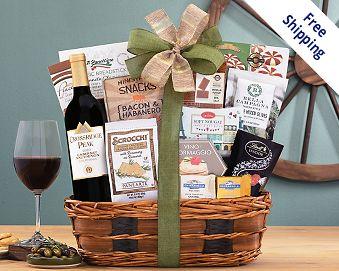 Item 736 - Barrel Hoops Cabernet Bon Appetit Wine Basket FREE SHIPPING