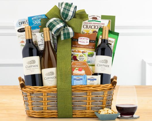 edenbrook vineyards trio gift basket at wine country gift baskets