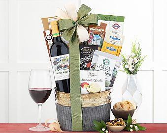 Rock Falls Vineyards Cabernet Wine Basket Gift Basket