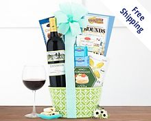 Rock Falls Vineyards Cabernet Gift Basket Free Shipping