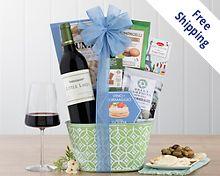 Rock Falls Vineyards Cabernet Gift Basket Free Shipping