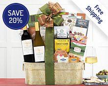 Eastpoint Cellars Coastal Connoisseur Gift Basket  Free Shipping 20% Save Original Price is $74.95
