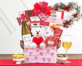 Suggestion - Vintners Path Valentine Chardonnay Wine Basket