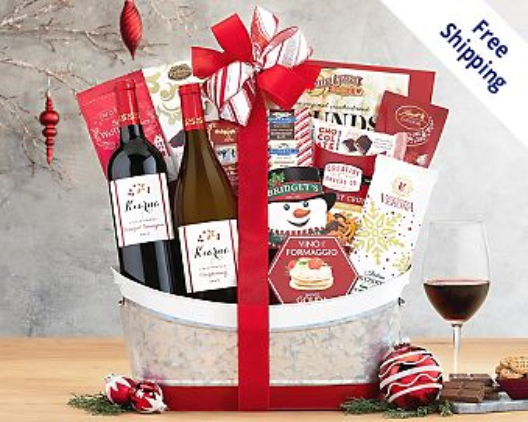 Blakemore Winery Holiday Selection Wine Basket Gift Basket  Free Shipping
