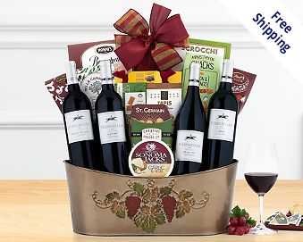 Red wine gifts red wine gift baskets at wine country gift baskets quick look wishlist wishlist hobson estate red wine quartet gift basket negle Images