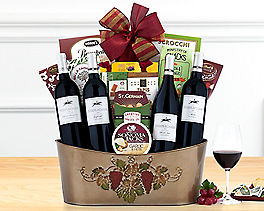 Suggestion - Barrel Hoops Red Wine Quartet Gift Basket