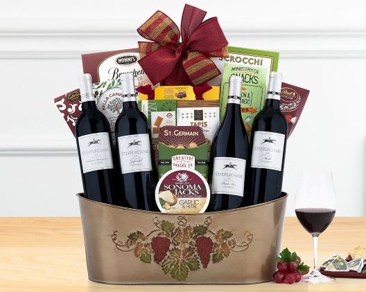 hobson estate wine quartet gift basket at wine country gift