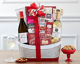Suggestion - Vintners Path White Wine Holiday Gift Basket
