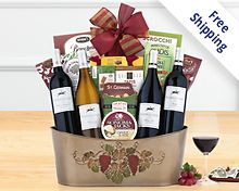 Barrel Hoops Quartet Wine Basket Gift Basket  Free Shipping