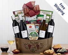 Steeplechase Quartet Gift Basket  Free Shipping