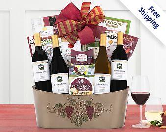 Steeplechase Quartet Wine Basket Free Shipping