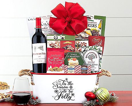 Try The Wine Country Holiday Treasures Basket Which Features Three Exclusive Wine Country Gift Basket Wines Vintners Path Winery Cabernet