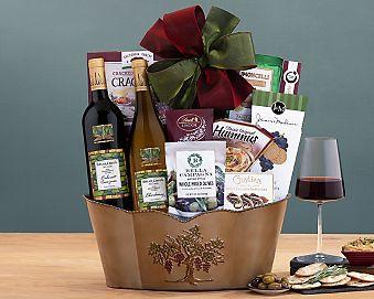 Briar Creek Cellars Double Delight Wine Basket Gift Basket