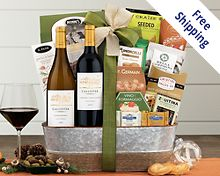 Cliffside Vineyards Wine Basket Gift Basket