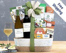 Steeplechase Vineyards California Assortment Gift Basket  Free Shipping