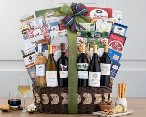 The half dozen california wine collection gift basket at wine image2 negle Image collections