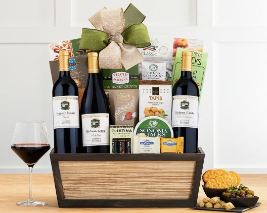 eastpoint cellars wine trio gift basket at wine country gift
