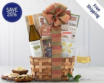 Item 823 - Grgich Hills Fume Blanc Wine Gift Basket FREE SHIPPING 25% Save Original
