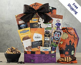 Halloween Chocolate and Sweets Gift Basket  Free Shipping