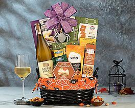 Suggestion - Halloween Barrel Hoops Chardonnay Basket