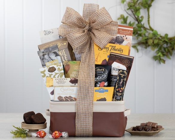 Image result for Milk and Dark Chocolate Treasures Gift Basket
