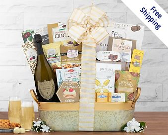 Item 851 - Dom Perignon Champagne Gift Basket FREE SHIPPING