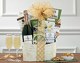 Suggestion - Bertrand Cuve Thomas Jefferson Brut Wine Basket Original Price is $115.00