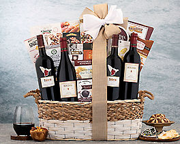 Suggestion - Red Wines of Napa and Sonoma Gift Basket Original Price is $320