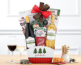 Suggestion - Wine and Cheese Happy Holidays Gift Basket