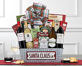 Suggestion - North Pole Road Red and White Wine Basket Original Price is $150.00