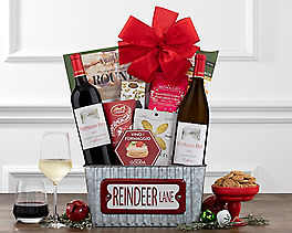 Suggestion - Red and White Wine Candy Cane Lane Gift Basket Original Price is $79.95