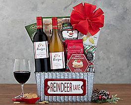 Suggestion - Vintners Path Reindeer Lane Wine Basket