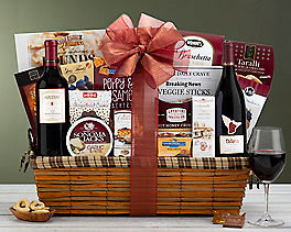 Suggestion - Napa and Sonoma Red Wine Duet Gift Basket