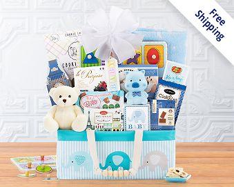 Bundle of Joy - Blue Gift Basket  Free Shipping