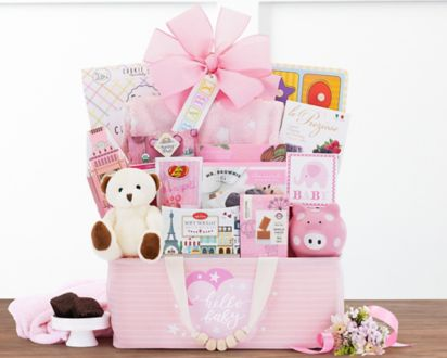 60faa546e Bundle of Joy - Pink Gift Basket at Wine Country Gift Baskets