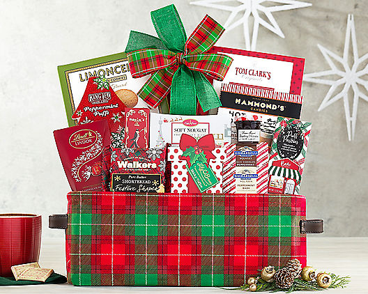 Christmas Gift Baskets For Women.Happy Holidays Gift Basket